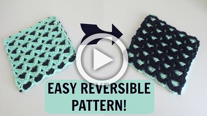 Reversible Crochet Pattern The Crochet Club