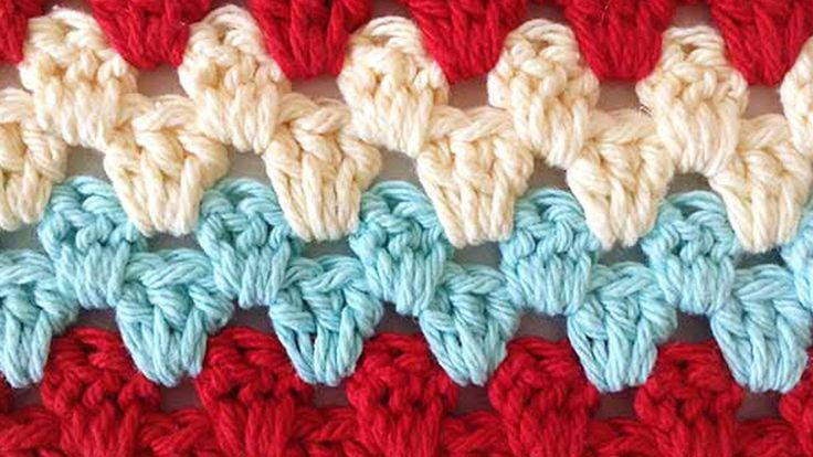 Crocheting Rows : Stitch Repeat Granny Rows Free Crochet Pattern - The Crochet Club