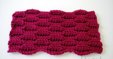 textured wave stitch